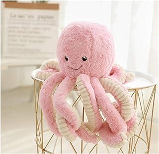 "HYL World 15.7"" Plush Cute Octopus Dolls Soft Toy Stuffed Marine Animal for Home Decor Christmas Birthday Gifts, Pink, One..."