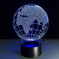 ヨーロッパアフリカ世界地図ホームアースデスクテーブルランプ用3D照明LEDランプキッド3D用ナイトライト