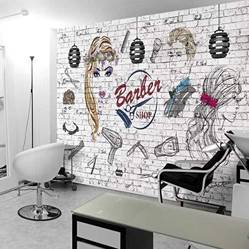 Behang vliesbehang, 3D, voor National en Amerika muren, bakstenen, kapsalon achtergrond behang 430*300cm #1158