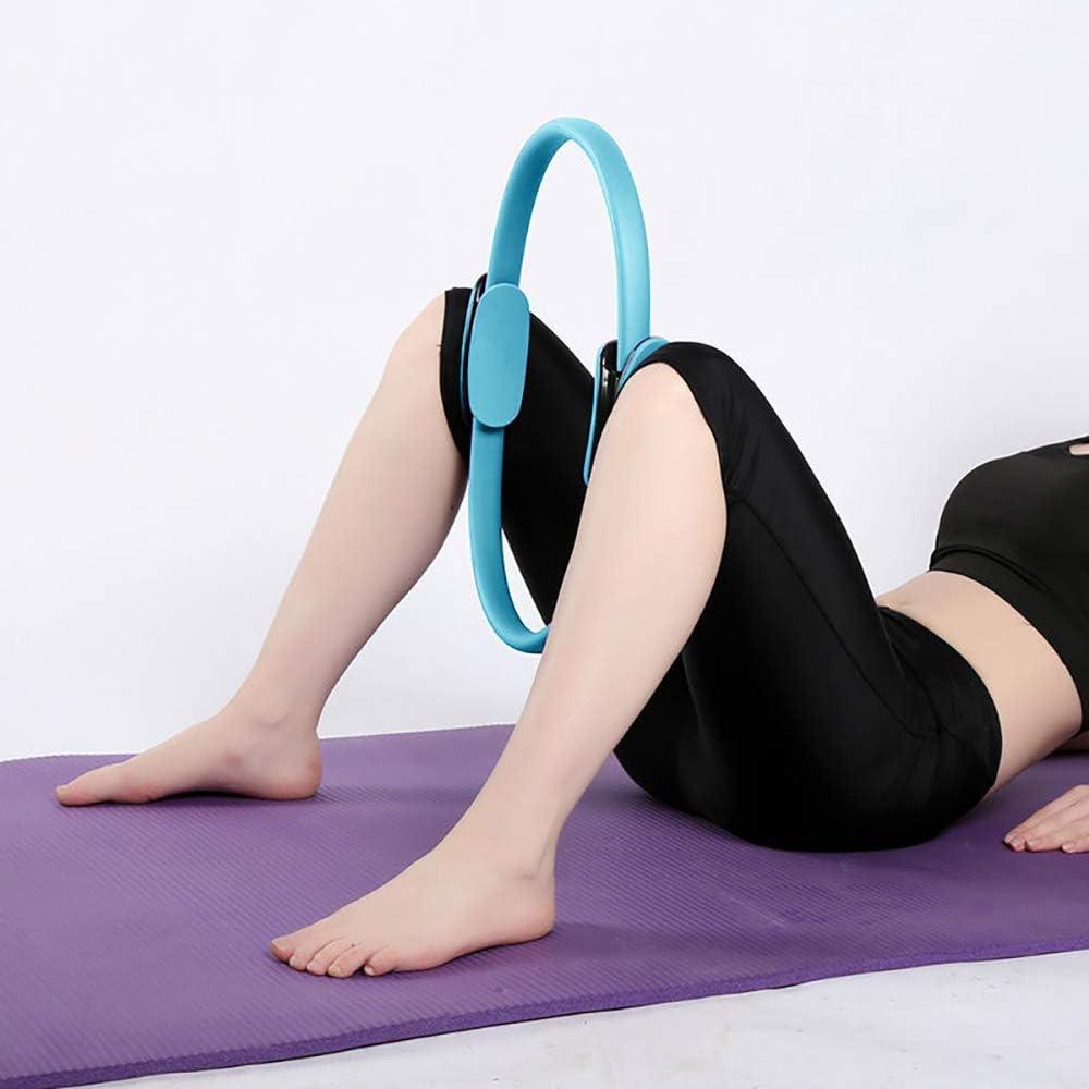 Anneau de Pilates Circle 38 cm renforcer lint/érieur et lext/érieur des cuisses Exercise Anneau Pilates Yoga Circle Yoga Gym Entra/înement pour br/ûler les graisses Anneau de r/ésistance Loop
