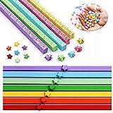 INTVN Papel de Origami Estrellas Origami Star Paper DIY Artesanía Decoración 2080 Hojas 2 Estilos 12 Colores