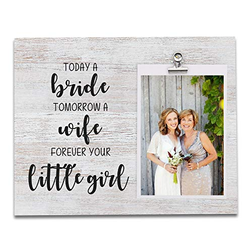 Mother of the Bride Gifts, Wood Picture Frame Holds 4 X 6 Photo,...