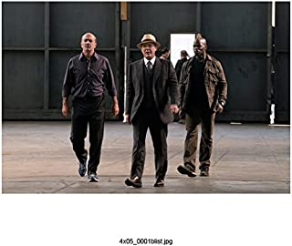 The Blacklist (TV Series 2013 - ) 8 Inch x10 Inch James Spader Grey Suit & Tan Hat Walking w/Hisham Tawfiq kn