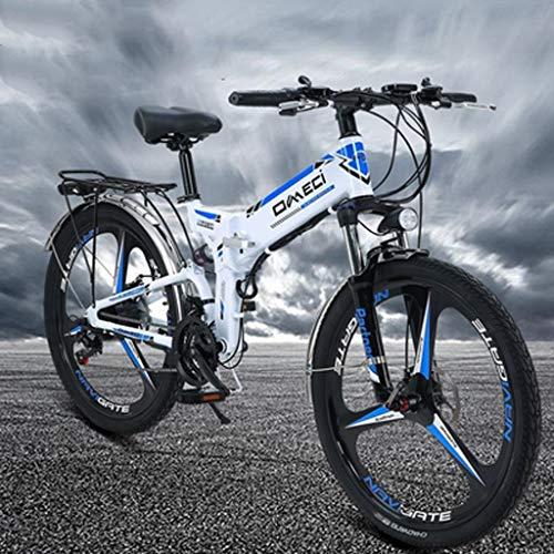 Find Bargain XTSP 24 Inches Electric Mountain Bike Wheel Folding Ebike 300W 48V 10AH Adult Electric ...