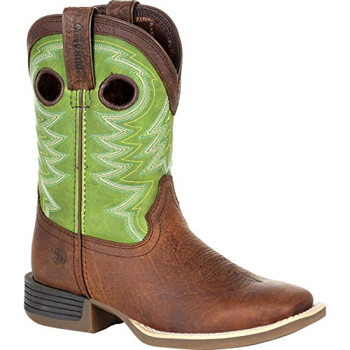 Durango Lil' Rebel Pro Little Kid's Lime Western Boot Size 1(M)