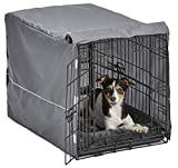 New World Double Door Dog Crate Kit   Dog Crate Kit Includes One Two-Door Dog Crate, Matching Gray Dog Bed & Gray Dog Crate Cover, 30-Inch Kit Ideal for Medium Dog Breeds