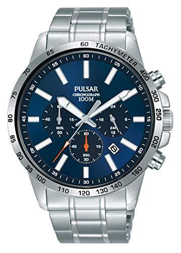 Pulsar Herren Analog Quarz Uhr mit Edelstahl Armband PT3995X1