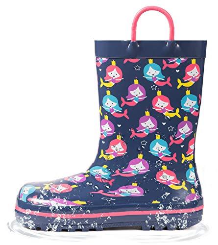 Toddler Mermaid Rubber Rain Boots