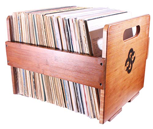 Sound Stash High End Bamboo Record Crate