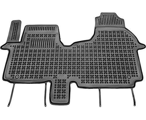 Tapis en caoutchouc compatible avec plage avant de Renault Trafic III pour 3 passagers (à partir de 2014) + nettoyant offert