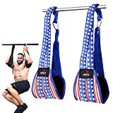 DMoose Ab Straps for Abdominal Muscle Building, Arm Support for Ab Workout, Hanging Ab Straps for Pull Up Bar Attachment, Ab Exercise Gym Pullup Equipment for Men Women