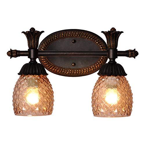 Vintage buitenwandlampen, retro wandlamp, vintage wandlamp, badkamerspiegel, verlichte spiegellamp, retro pastelorale wandlampen voor hoofdverlichting