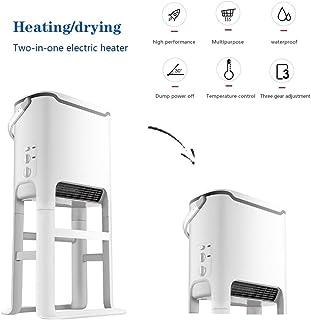 Mfun Calentador de Soporte Desmontable, radiador Ajustable de Tres velocidades, Calentamiento de Ropa, Apagado automático Cuando está Inclinado, Impermeable/no Luminoso/silencioso/Retardante de Llama