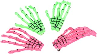 2 Pairs Skeleton Hands Bone Hair Clips Fashion punk rock devil claw crocodile hair clip for Women Girls Hai...