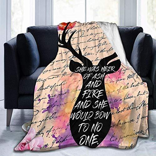N \ A Manta de sofá unisex Heredero de fuego, manta de microforro polar, adecuada para mantas de sofá para adultos y niños, mantas de cama de 60 pulgadas x 50 pulgadas