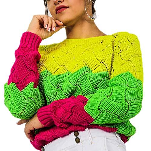 Bowen Jimmy Women's Sweaters Autumn Winter Knitwear Slim Fit Long Sleeve Stripe O-Neck Knitted Sweater Tops Gn L