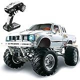 PBTRM 1:10 Coche Teledirigido, 2.4Ghz RC Coche Todoterreno 4WD, ESC 320A, Motor Cepillado 540, Coche De Hobby para Adultos Y Niños, Blanco
