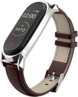 comprar comparacion AHANGA Correa para Mi Band 4 Xiaomi Mi Band 3 Correas, Cuero Piel Pulseras Dermis Pulsera Brazaletes Wristband Repuesto Ba...