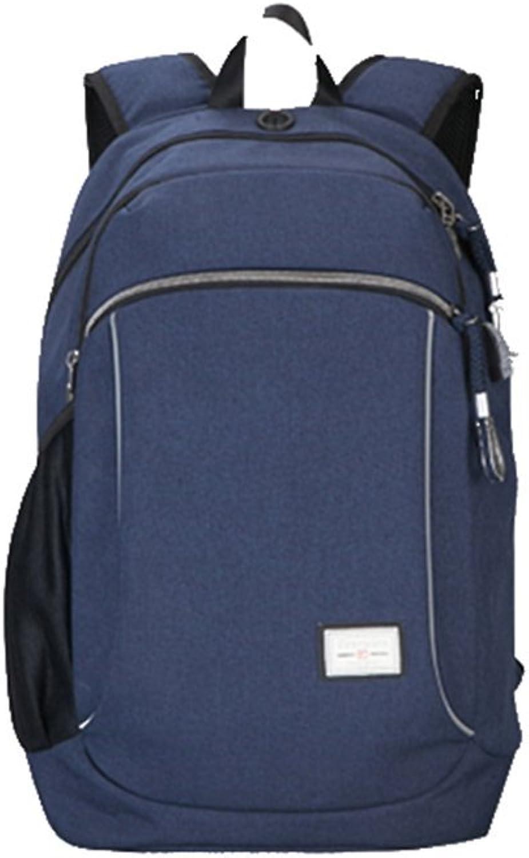 LIANZI Daypacks Rucksack Business Casual Rucksack Computer Tasche Reisetasche Aus Canvas Studententasche Rucksack (Farbe   Star Blau)