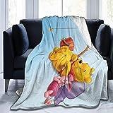 Yuanmeiju Winnie The Pooh Ultra Soft Fleece Manta de Tiro Cozy Warm Plush Manta de Tiro Sofa Bed Couch