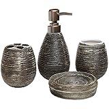 Deanyi Conjunto de Accesorios de baño de Moda 4pc Portacepillos de Dientes de cerámica Dispensador de jabón jabonera Productos casa