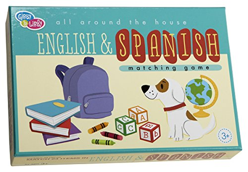 C.R. Gibson English & Spanish Matching Board Game for Kids, 48Pc