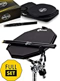 Double Sided Drum Pad Set - Responsive Drum Practice Pad Comes with Premium Drum Sticks, Adjustable...