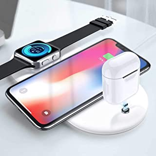LIV 3-in-1 Wireless Charging Station - Compatible with Apple Watch, AirPods, Phones, Samsung Note & All Qi-Enabled Phones