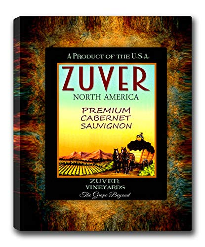 Zuver Wine Family Name Gallery Wrapped Canvas Print