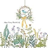 DIY ウォールデコ 鳥 ウォールステッカー 植物 北欧 壁飾り インテリア ウォールシール 花 飾り 子供部屋 リビングルーム 寝室 (鳥)