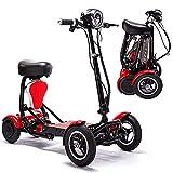 Scooter de mobilité Pliable pour Adultes et Seniors, Scooter de mobilité électrique à 4 Roues, Voyage léger et Rechargeable, 2 sièges, Scooters de mobilité, fauteuils roulants électriques, 45 km