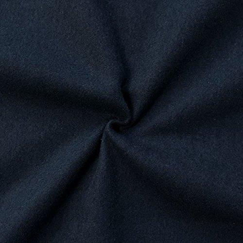 STOFFKONTOR Wollstoff Winter Basic Stoff Meterware Dunkel-Blau