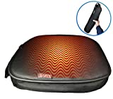 GEARFLAG Heated Stadium and Car Seat Cushion Automatic air Filled Foam, Skin Feel Leather with Adjustable Temperature Control, Compact Carrying Bag, staidum seat, Hunting and Emergency