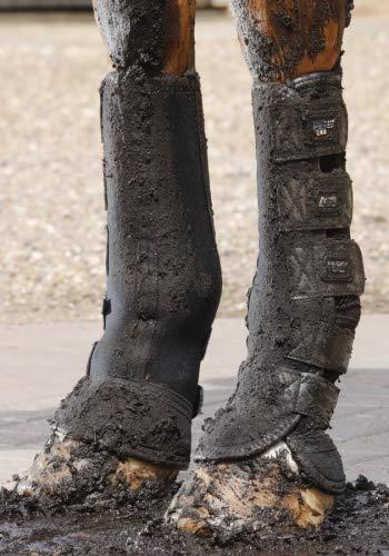 Premier Equine Turnout/Mud Fever Boots Outdoor- und Paddock Gamasche Größe L, Farbe Black