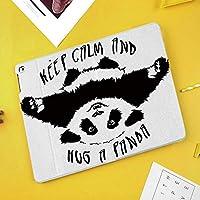 iPad Mini 3/2 / 1 ケース 超薄型 超軽量 TPU ソフトスマートカバー オートスリープ機能 衝撃吸収 二つ折りスタンド変な動物のマスコットは冷静さを保ち、パンダのやる気を起こさせる引用アートを抱きしめなさい