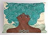Protectores de almohada| Almohada decorativa para acuario del zodiaco Tamaño Queen Impreso Funda Verde Marrón 18 x 18 pulgadas