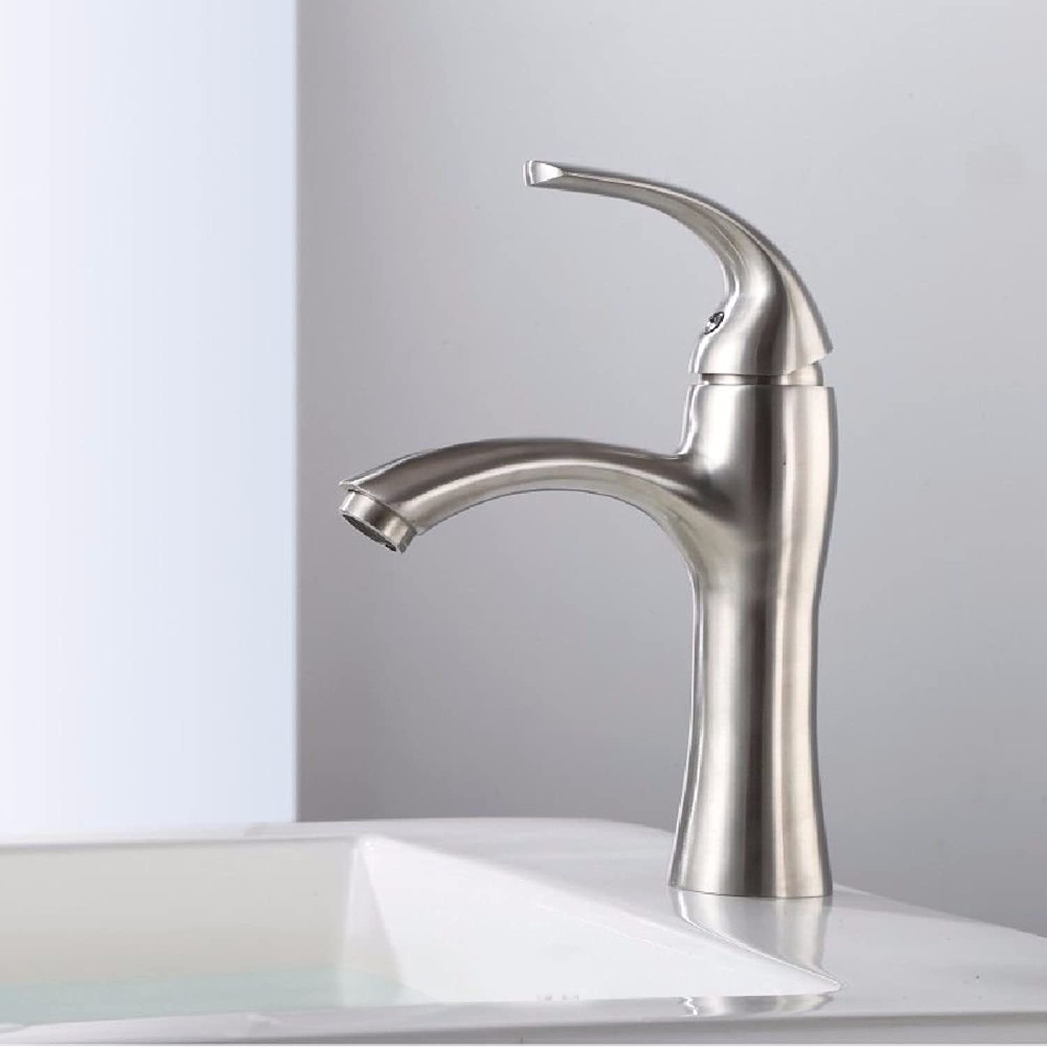 Lalaky Taps Faucet Kitchen Mixer Sink Waterfall Bathroom Mixer Basin Mixer Tap for Kitchen Bathroom and Washroom 304 Stainless Steel Wire Drawing