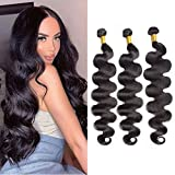 Maxine 10A Grade Peruvian Virgin Body Wave 4 Bundle Hair Weft Cheap 100% Unprocessed Human Hair Weave Extensions Natural Black Color 95-100g/pc(40x4 Inch)