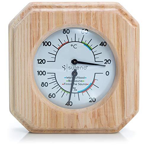 Suleno® Sauna Klimamesser 2in1 Thermometer/Hygrometer Zedernholz