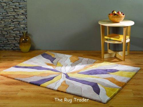The Rug Trader Infinite Handtuft Splinter Ocker Teppich 160cm x 220cm