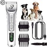 Radiancy Inc Kit De Profesionales Cortapelos para Perros Y Gatos, Afeitar Maquinillas Eléctricas para Mascotas Animales Trimmer, Bajo Ruido,Adaptable para El Pelo del Perro/Gato