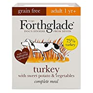 Forthglade Complete Natural Wet Dog Food - Grain Free Turkey (18 x 395g) Trays