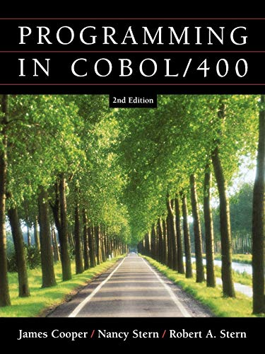 Structured COBOL Programming for the AS400, 2nd Edition