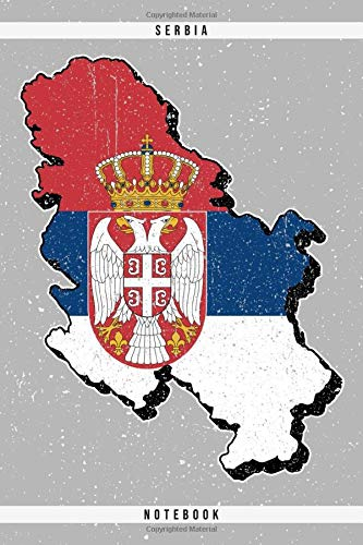 Serbia. Notebook: Dotted Notebook with 120 pages. Cool illustration with the serbian map and flag. Ideal to write down important things like cooking recipe, travel information, etc.