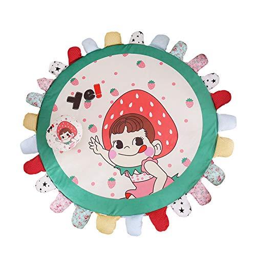 Alfombra multifuncional con pétalos de pétalos de flores, para dormitorio o mesita de noche para niños, antideslizante, extraíble y lavable, alfombra para juegos (A, 140 cm de diámetro)