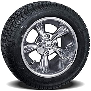 Wildaboutcarts Set of (4) 10 inch Godfather Wheels on Lo-Profile Tires