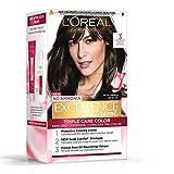 L'Oreal Paris Excellence Creme Hair Color, 3 Dark Brown, 72ml+100g