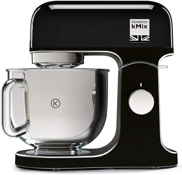 Impastatrice planetaria kitchen machine kmix, robot da cucina mixer, 1000 w, 5 litri kenwood kmx750ab