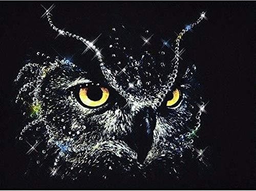 5D DIY Diamond Painting Full Square Animal Owl Series Cross Stitch Kit Embroidery Diamond Mosaic Picture Rhinestone Decoration 30x40cm
