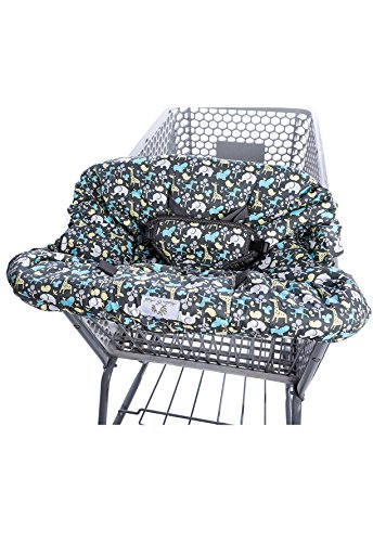 Best Price 2-in-1 Shopping Cart Cover and High Chair Cover, Universal Fit, Ultra Plush, 100 Percent ...
